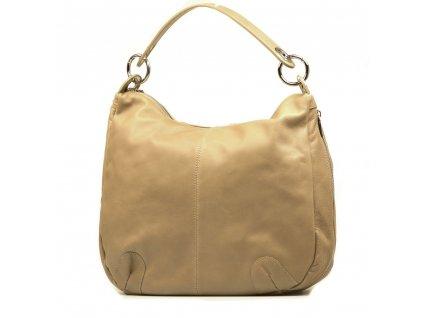 Kožená kabelka Ilaria béžová