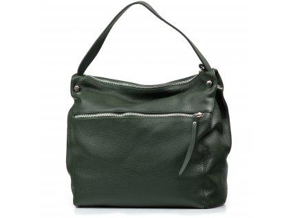 Kožená kabelka Daria zelená