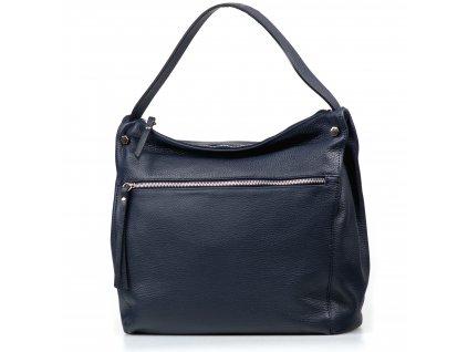 Kožená kabelka Daria modrá