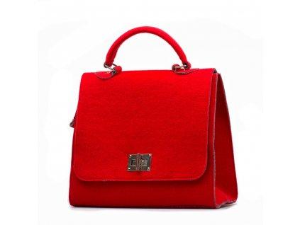 Filcová kabelka Guiliana červená