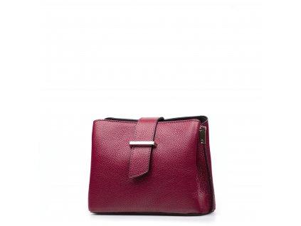 Kožená kabelka Margo vínově červená