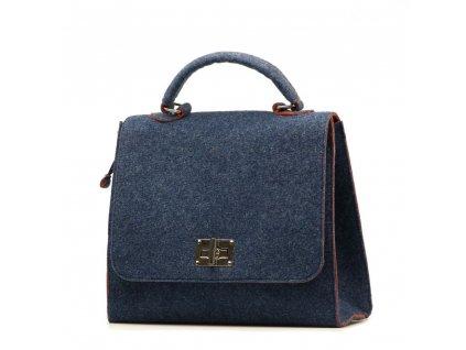 Filcová kabelka Guiliana modrá