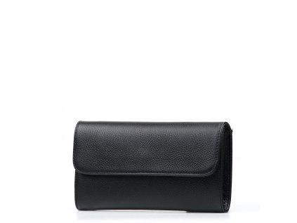 Kožená kabelka-psaníčko Vilma černá
