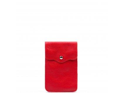 Kožená mini kabelka Jessi na telefon červená