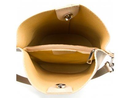 Kožená kabelka Nita béžová