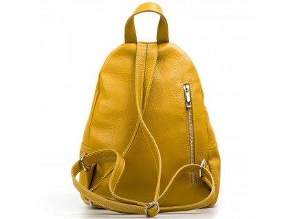 Kožený batůžek Maisy hořčicově žlutý