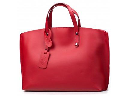 Kožená kabelka Alissa vínově červená
