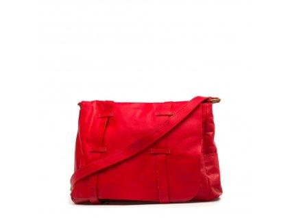 Kožená kabelka Samona červená