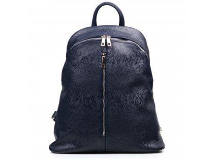 Kožený batůžek Joan modrý