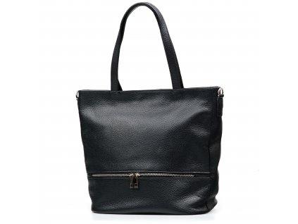 Kožená kabelka Thea černá