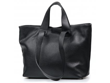 Kožená kabelka Vittoria černá