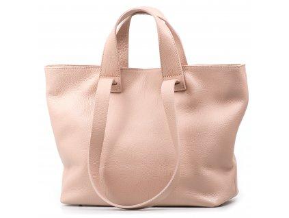 Kožená kabelka Vittoria růžová
