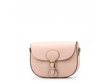 Kožená crossbody kabelka Josie růžová