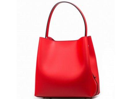 Kožená kabelka Sarah červená