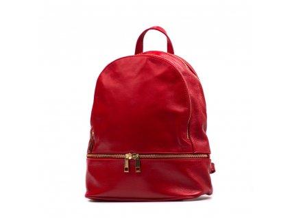 Kožený batůžek Dario červený