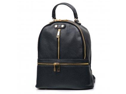 Kožený batůžek Corinne černý