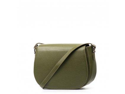 Kožená crossbody kabelka Bonnie olivově zelená