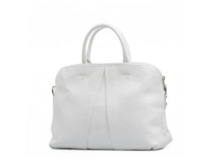 Kožená kabelka Camille bílá