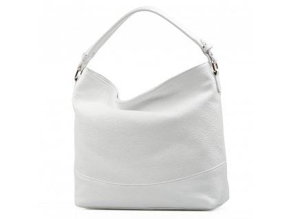 Kožená kabelka Shaila bílá