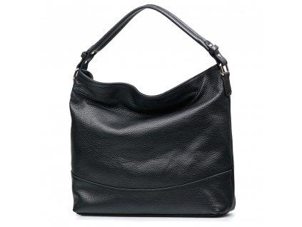 Kožená kabelka Shaila černá