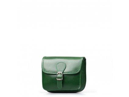 Kožená crossbody kabelka Fabienne zelená