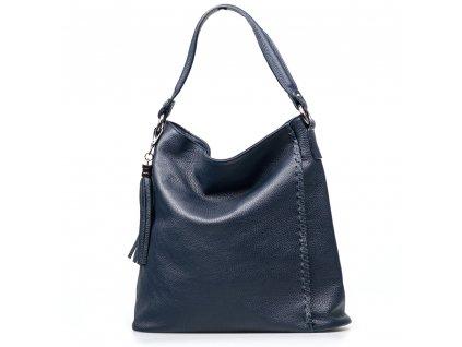 Kožená kabelka Felicia modrá