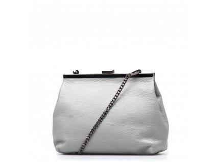 Kožená kabelka Judith šedá