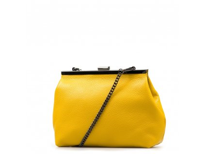 Kožená kabelka Judith žlutá