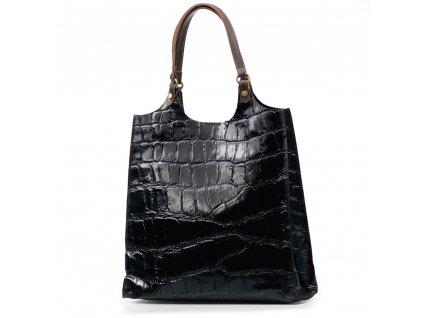 Kožená kabelka Zoelle černá