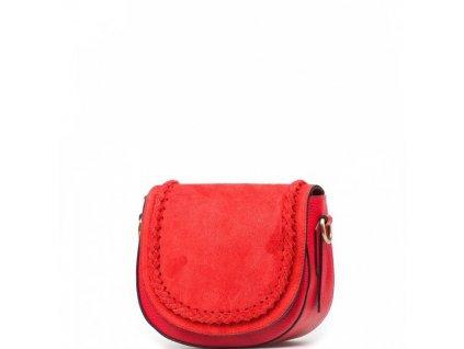 Kožená crossbody kabelka Marina červená