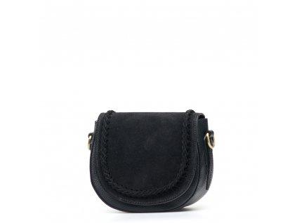 Kožená crossbody kabelka Marina černá
