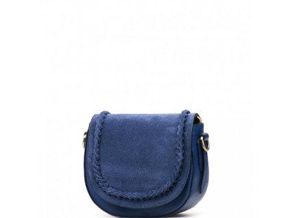Kožená crossbody kabelka Marina modrá