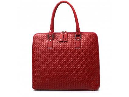 Kožená kabelka Adele červená