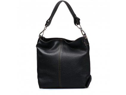 Kožená kabelka Jessica černá