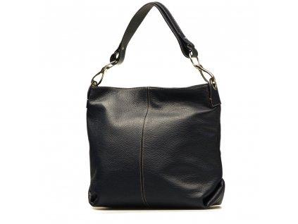 Kožená kabelka Jessica tmavě modrá