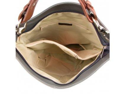 Kožená kabelka Cira šedá