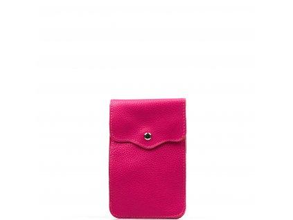Kožená mini kabelka Jessi na telefon fuchsiová