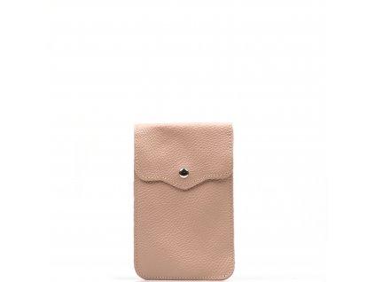 Kožená mini kabelka Jessi na telefon růžová