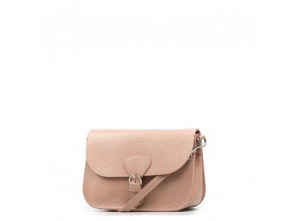 Kožená kabelka Claude pudrově růžová