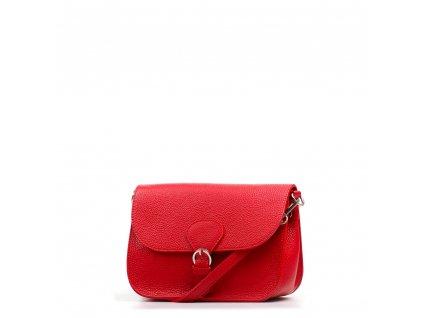 Kožená kabelka Claude červená