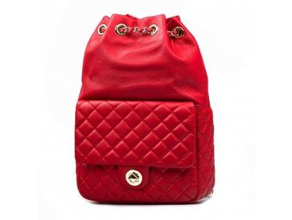 Kožený batůžek Valerio červený