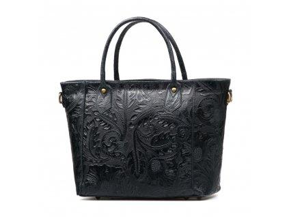 Kožená kabelka Cindy černá