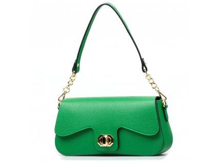 Kožená kabelka Odeta zelená