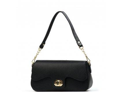 Kožená kabelka Odeta černá