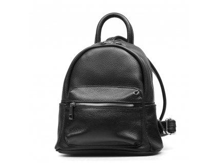 Kožený batůžek Scarlet černý