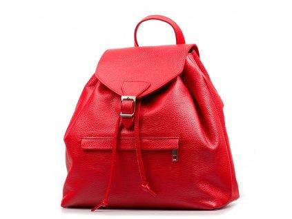 Kožený batůžek Rita červený