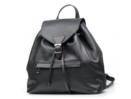 Kožený batůžek Rita černý