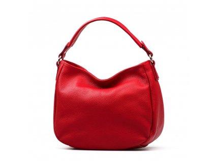 Kožená kabelka Sabina červená