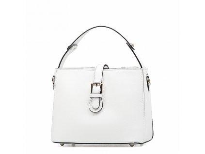 Kožená kabelka Loreta bílá