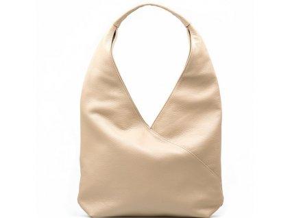 Kožená kabelka Paola béžová